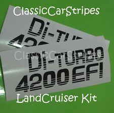 Landcruiser Di turbo 4200 79 ser Black Toyota Decal stickers