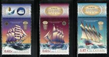 2016/2017/2020 Latvia Historical Ships 3 diff issues MNH