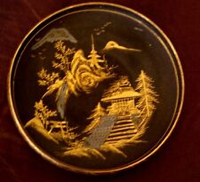 Antique Japanese Kutani Shallow Dishes Small Bowls Hand Painted Gilt Signed