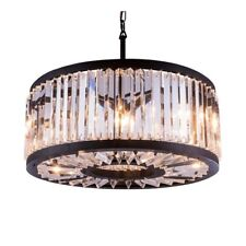 Elegant Lighting 1203D28 Chelsea 8-Light Pendant with Crystal Trim