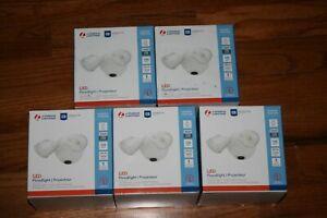 5X Lithonia 1770 Lumen 150W White Dusk-to-Dawn Floodlight Security Light