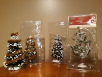 Lemax Village Collection WHITE PINE, SNOW COVERED, CHRISTMAS, GARLAND, LIGHTS