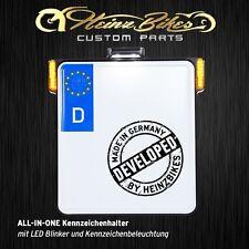 All-In-One Kennzeichenhalter mit Blinker & Kennzeichenbeleuchtung Harley V Rod