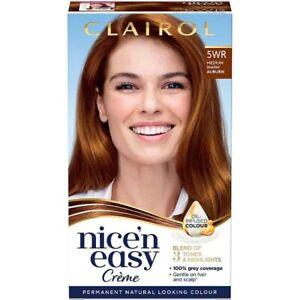 Clairol Nice' n Easy Crème Oil Infused Permanent Hair Dye 5WR Medium Warm Auburn