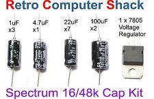 Sinclair ZX SPECTRUM 16K 48K & RIPARAZIONE / Refurb CONDENSATORE & REGOLATORE DI TENSIONE KIT