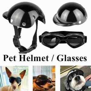Dog Goggles Pet Motorcycle Helmet UV Glasses Pet Eyewear Sunglasses AdjustableAU