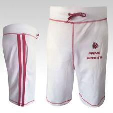 Prime Mma Pro Boxing Pc Shorts Bottoms Mens Sports Ufc Gym Pants White Short New