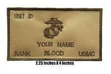 Flak Plate Carrier USMC ID w/Fastener: Custom Embroidery Name/Rank/BLOOD/Unit