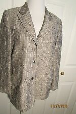 Austin Reed jacket/blazer, 12, grey/black/white tweed,  3 button opening, lined