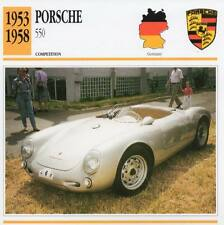 1953-1958 PORSCHE 550 Racing Classic Car Photo/Info Maxi Card