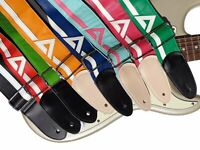 Adjustable PU Leather Guitar Strap Vinyl Stripe Acoustic Electric Guitar Bass