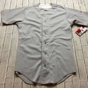 90s VTG NWT WILSON BASEBALL BUTTON FRONT BLANK MADE in USA Jersey S Plain