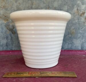"""Vintage J.A. Bauer Pottery Ruffle-Italian Pot 5"""" Made in USA"""