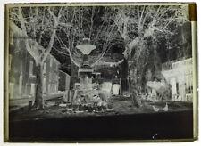 Photo plaque verre 13x18cm- Place de la fontaine St Etienne - lavandière métiers