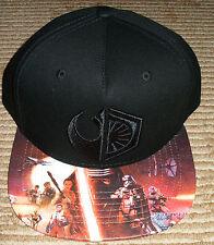 Star Wars Licensed Snapback Hat! Adjustable! Faux Leather Bill! 1st Order/Resist