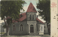 Illinois IL Geneseo-Grace Evangelical Church Rare OLD Collectible Postcard