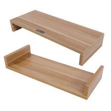 Bildschirmerhöhung Monitorerhöhung PC Ständer Schreibtischregal Natur Holz TOP