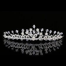Handmade Floral Bridal Headpiece Rhinestone Crystal Prom Wedding Tiara V944