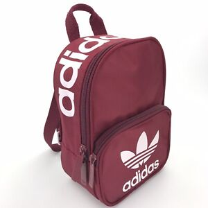 Adidas Originals Classic Trefoil Backpack Rucksack Bag Red Maroon