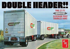 Amt/ Mpc 591132 - 1/25 Double Header Tandem Van Trailer - New