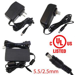 UL Power Supply Adapter AC/DC 12V 0.5A/1A/2A/3A/4A/5A 5050 3528 LED Strip Light