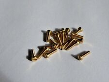 M1.6 Brass Cheese Head Slotted Screw x 6mm Long ( Quantity 25 )