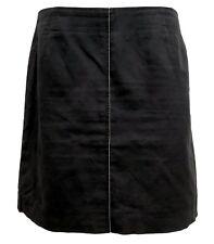 BRUNELLO CUCINELLI LINEN BLACK SKIRT, 8 US 44 IT, $1045