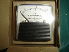 DC Ammeter GE Panel Mount Analog Meter DC 0 - 3 Killoamps requires xternal shunt