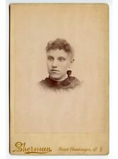 YOUNG LADY WITH CHOKER NECKLACE BY SHERMAN, POINT CHAUTAUQUA, NY, CABINET PHOTO