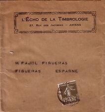 SEMEUSE 40c - TARIF IMPRIMES 40c POUR FIGUERAS ESPAGNE-ENTETE ECHO DE LA TIMBROL
