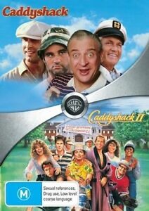 Caddyshack+Caddyshack II DVD 2-MOVIES Chevy Chase Rodney Dangerfield RARE NEW R4