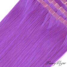 "40pcs 20"" Hi-Temp SYN 3M Tape-in Hair Extensions #PURPLE  PARTY Colors-Lux.Vogue"