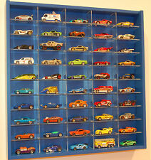 Model Car Display 1:64 & 1:72  Hot Wheels, Matchbox,  Biante, Tomica  (BLUE )