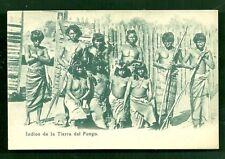 Chile nude Indian Bow Arrow Spear Tierra del Fuego 1899