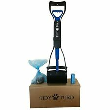 739065153665 Tidy Turd Pooper Scooper for Dogs With Leak Proof Blue Poop Bags