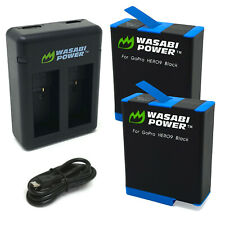 Wasabi Power Battery (2-Pack) and Dual Charger for GoPro HERO9 Black