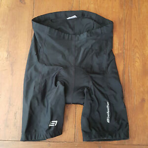 Bellwether Mens Large Cycling Shorts Compression Padded L Black
