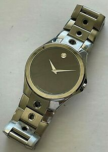 37mm Movado Valeto Swiss stainless steel mens watch, ref.# 84G11890
