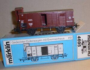 Märklin HO 4695 gedeckter Güterwagen mit Bremserhaus - OK - sehr guter Zustand