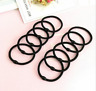 20pc Hair Bands Thick Bobbles Elastic Ponytail Rubber Hairbands Black