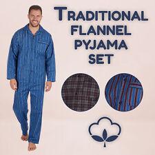 Mens Pyjama Pajama PJ Set for Him Flannel 100% Brushed Cotton Classic Check Warm