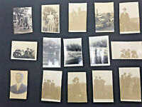 Lot of 15 Old Black & White Photos Early Vintage Photographs Snapshot Antique