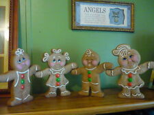 Ready to paint Ceramic Hand n Hand Gingerbread kids