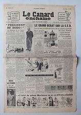ANCIEN JOURNAL -  LE CANARD ENCHAINE N° 1727 DU  25 NOVEMBRE 1953 *