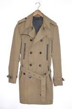 **AWESOME SAUCE** IKKS Mens Cotton Mac Trench Coat MEDIUM / SMALL manteau veste