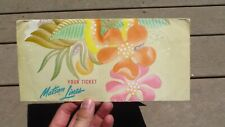 Vintage Matson Line Honolulu Hawaii Ticket Folder
