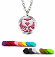 Essential Oil Diffuser Necklace Pendant Stainless Steel Aromatherapy Love