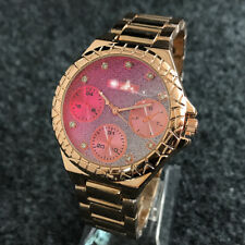 2018 Fashion Women's Dress Stainless steel Wristwatch gues bear Watch Rose Gold