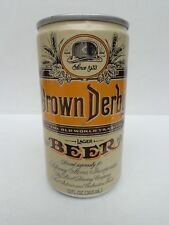 "BROWN DERBY LAGER ""OKLAHOMA"" LID ALUMINUM PULL TAB BEER CAN  PEARL BREWING TEXAS"