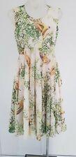 TED BAKER Summer Bird & Butterfly Print A Line Dress - Sz 2 - EUC